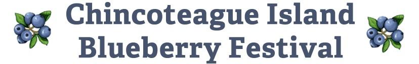 Chincoteague Island Blueberry Festival Logo 2015