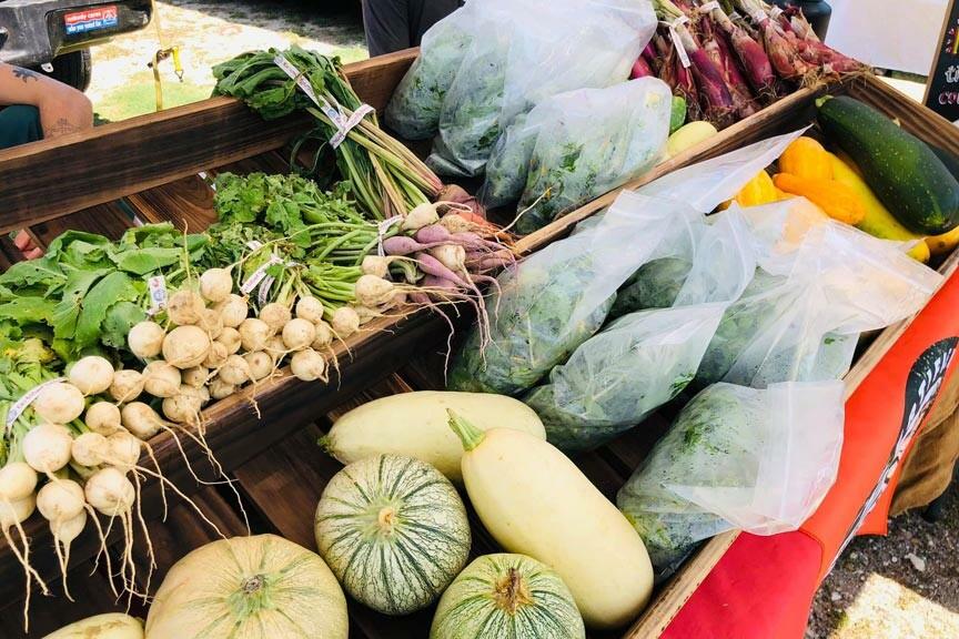 Chincoteague Farmers Market produce