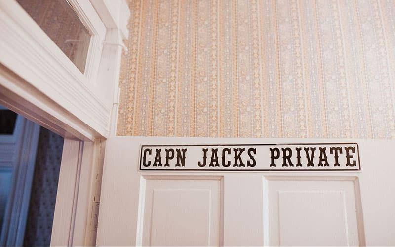 Captain Jack's Bathroom door
